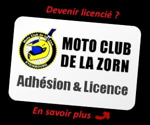 Adhésion et Licence Moto Club Zorn
